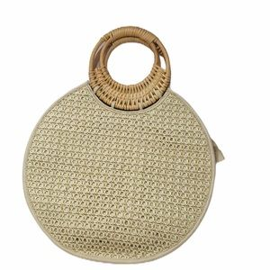 ANTHROPOLOGY MARIANNE WOVEN CIRCLE BAG